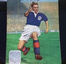 Sammy Cox - Scotland & Rangers Football Club - Vintage Colour Poster