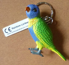 RAINBOW LORIKEET AUSTRALIAN BIRD SOUVENIR KEYCHAIN KEY RING Size 75mm