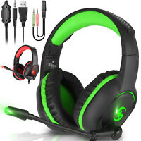 3.5mm Gaming Headset Mic LED Headphone Stereo Bass Surround for Xbox One PS5 PS4