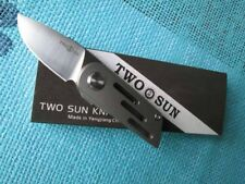 Twosun Mini M390 Titanium Ball Bearings Fast Open Pocket Knife FireFly TS58FS