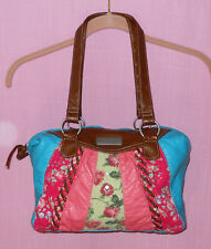 WALL FLOWER WOMEN'S BOHO FLORAL MULTI-COLORED PURSE *EUC*