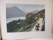 Suisse: Gravure 19° in folio couleur /Beatberg