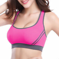Stylish Women Running Sports Bra Yoga Gym Workout Vest Crop Tops Shapewear Bra