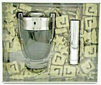Invictus by Paco Rabanne Gift Set for Men: 3.4oz.+10ml.Eau de Toilette Spray.New