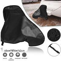Universal Caravan Hitch Cover PVC Trailer Tow Ball Coupling Lock Breathable AU
