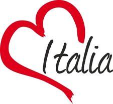 """Adesivo per auto """" ITALIA """" cuore Sticker ca.9x10 cm taglio contorno"""