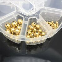 100PCS Stainless Steel Gold Plated Round Spacer Beads DIY Loose Beads 4/6/8mm