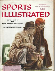 1956 10/8 Sports Illustrated football magazine Paul Brown, Cleveland Browns FAIR