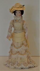Artisan Woman Lady Victorian Doll Miniatures OOAK 1:12