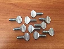 """Steel Spade-Head Thumb Screws -5/16"""" -18 & 3/4 Length -Pack of 10"""