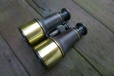 Antique Brass Ross London Binoculars United Service Collector Rare