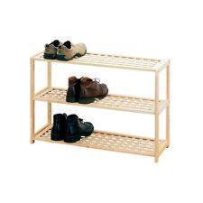 Shoe Rack legno naturale 3 piani SCARPA ORGANIZER CASA UFFICIO SALOTTO CAMERA DA LETTO