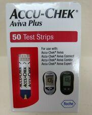 50 Accu-Chek Aviva Plus Test Strips  Exp 12/21 Dents/Dings Ship Free