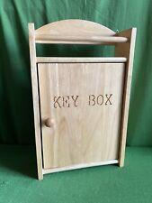 Wooden Key Box Hanger Hooks Cupboard Wall Mounted Birch Storage