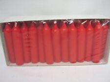 Nuevo Pequeño De Navidad Adviento Velas Pk48 75mm X 15mm Rojo