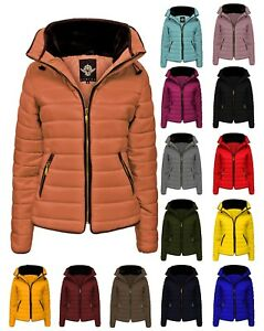 Ladies Jacket Coat Women' Fur Collar New Quilted Puffer Warm Padded Bubble 6-5XL
