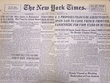 1946 FEB 28 NEW YORK TIMES NEWSPAPER - U. S. PROPOSES FRANCO ASKED TO QUIT- NT 5