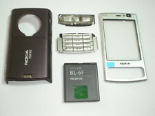 New Nokia n95 8gb cover keypad housing set +new battery  silver purple colour