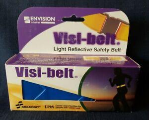 Skilcraft Visi-belt Reflective Safety Belt- Blue Running Cycling Walk NWT