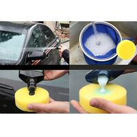 Neu 12x Wachs Rund Foam Politur Schaumstoff Schwamm Pads Fahrzeug-Glas