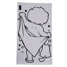Lovely Kid Boy Bath Shower Sticker Bathroom Toilet Wall Vinyl Home Art Deca X1P1