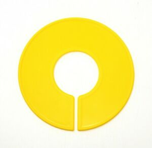 Yellow Round Plastic Blank Rack Size Dividers - Multi-pack