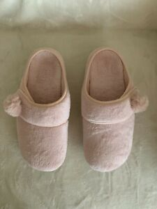 Vionic Adjustable Strap Slippers - Emily, Pink, Size 8M (39), New