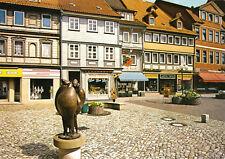 """AK, Osterode am Harz, Markt mit Skulptur """"Marktweiber"""", 1985"""