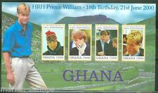 GHANA  IMPERF 18th BIRTHDAY OF PRINCE WILLIAM  SHEET SC#2182   MINT NH