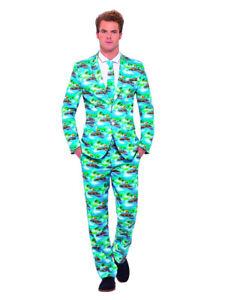 Hawaii Anzug Aloha mit Krawatte Herren Kostüm Sakko Jackett Hose Karneval Party