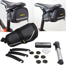 SAHOO Bike MTB Cycling Tools Set Mini Crowbar Repair Pump Tire With Rear Bag Kit