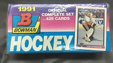 NHL 1991 Hockey Trading Cards Topps Bowman Factory Sealed