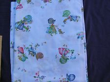 1.75 metres pale blue vintage Holly Hobbie print fabric material 112cm wide