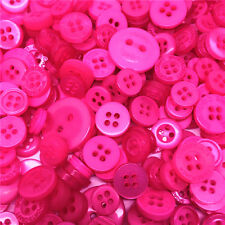 Jesse James Buttons ~ Dress It Up  ~ 1,000+ HOT PINK ROUND SEWING BUTTONS CRAFTS