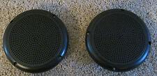 """2 RV Marine Trailer Black 5.25"""" Recess Mount Speakers UV Protected Waterproof"""