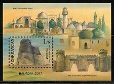 AZERBAIJAN  2017  CASTLES EUROPA  SOUVENIR SHEET  MINT NH