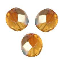 5 Perles Facettes cristal de boheme 10mm  TOPAZE AB