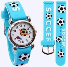 Children's, Niños, Chicos Manchester City, fútbol de 3D, diseño de fútbol, deportes reloj