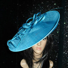 FAILSWORTH LARK TURQUOISE BLUE WEDDING DISC HATINATOR HAT MOTHER OF THE BRIDE