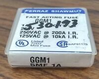 Ferraz Shawmut GGM3 Mini Fuse, 3 Amp 250 VAC. - pack of 5
