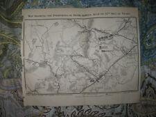 ANTIQUE 1866 SECOND BATTLE OF BULL RUN MANASSAS VIRGINIA CIVIL WAR MAP AT NIGHT