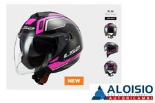 Ls2 Of573 Twister II Casco Moto Flix Black/violet Tg. S