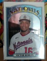 2021 Topps Heritage CHROME Victor Robles #470 SP(#'ed 399 / 999)       NATIONALS