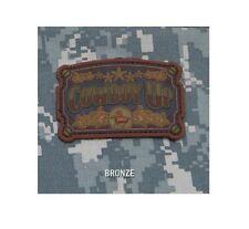 Morale Patch - Milspec Monkey - COWBOY UP - PVC - BRONZE color pattern