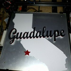 3d Guadalupe California Sign 3D printed Collectable