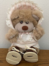 Vintage Trappers Plush Teddy Bear Baby Outfit Booties stuffed toy