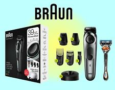Braun Beard Trimmer7 BT7240 with precision dial, 4 attachments & Gillette Fusion