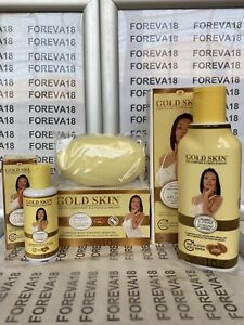 GOLD SKIN CLARIFYING ARGAN OIL LOTION/SOAP & OIL (Set/3) 100% Original(FOREVA18)