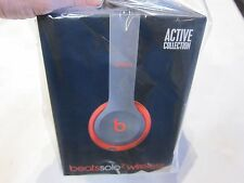 Beats by Dre Solo2 Wireless Headphones Active Collection Siren Red Bluetooth