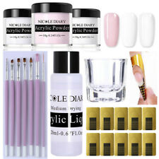 20Pcs/Set NICOLE DIARY Acrylic Powder Tips Extension Carved Flower Nail Art DIY